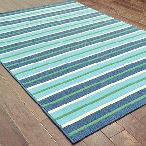 Bellamy Blue & Green Indoor/Outdoor Area Rug