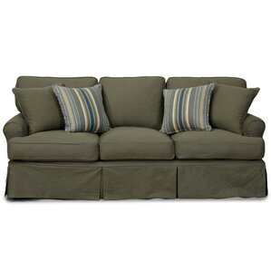 Coral Gables T-Cushion Cotton Sofa Slipcover