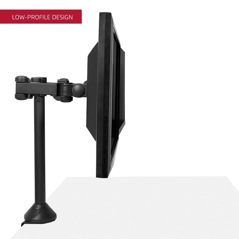 Dual Tilt And Swivel Height Adjustable Desktop Monitor Mount