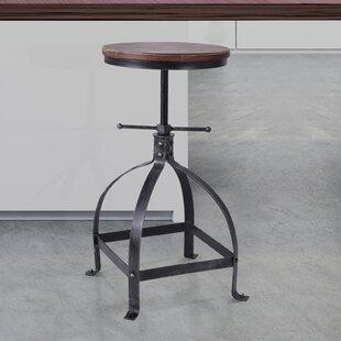 Breunig Adjustable Height Swivel Bar Stool