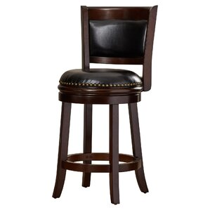 Layton 24'' Swivel Bar Stool by Darby Home Co