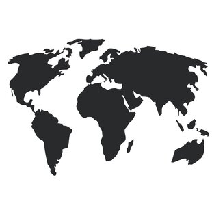 Large world map wall decal wayfair save to idea board gumiabroncs Images