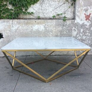 Rosamond Marble Brass Coffee Table