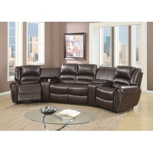 save - Leather Sectional Couch With Recliner