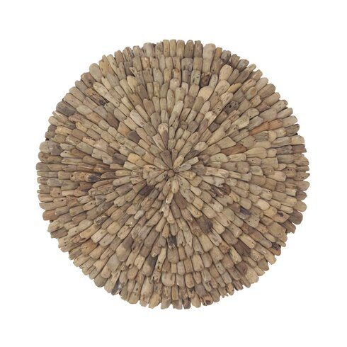Natural Burst Style Round Driftwood Wall Décor