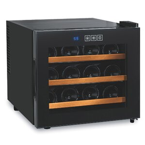 12 Bottle Silent Freestanding Wine Cooler by Wine Enthusiast
