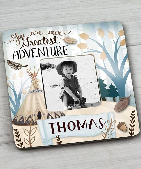 Toad and Lily Adventure Personalized Picture Frame | Wayfair