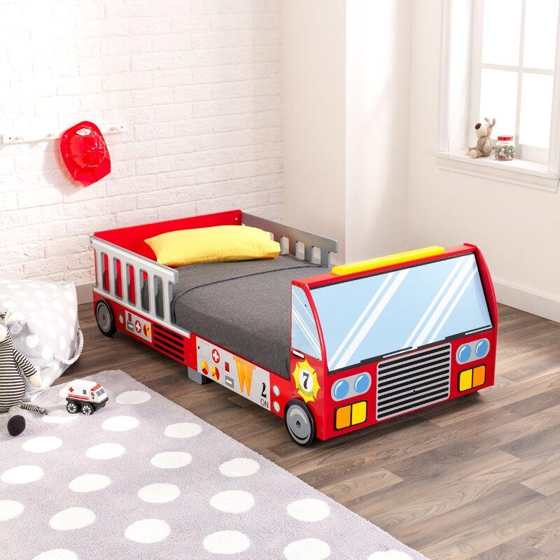 KidKraft Firefighter Toddler Car Bed & Reviews   Wayfair