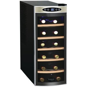 12 Bottle Sommelier Series Single Zone Freestanding Wine Cooler by Koblenz
