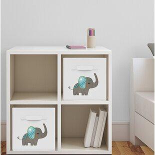 Elephant Fabric Storage Cube & Mint Green Storage Cube   Wayfair