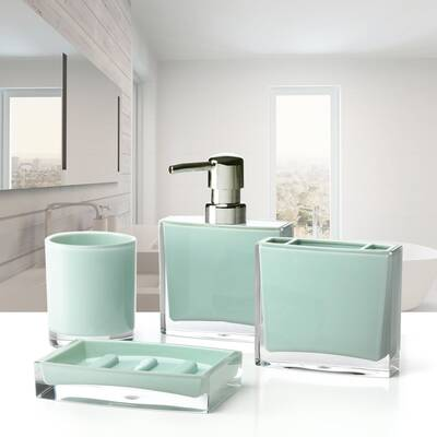 Iced 4 Piece Bathroom Accessory Set