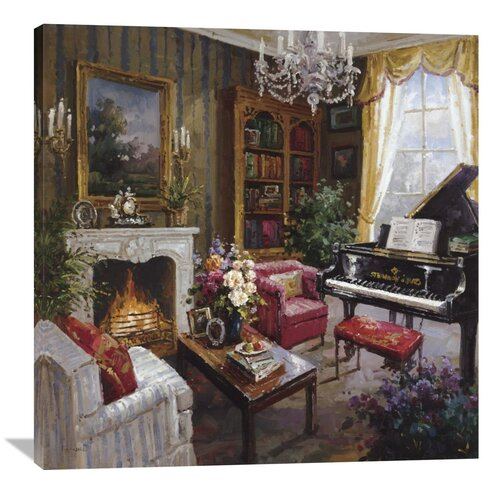 U0027Grand Piano Roomu0027 By Foxwell Painting Print On Wrapped Canvas · U0027