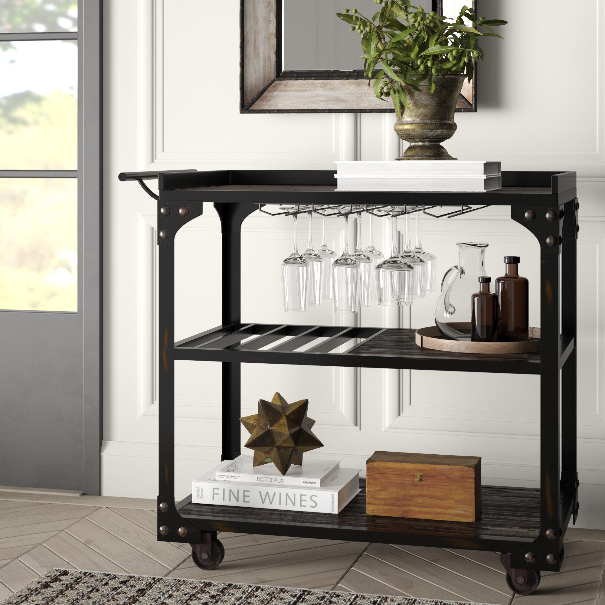 Greyleigh Glastonbury Bar Cart Reviews Wayfair