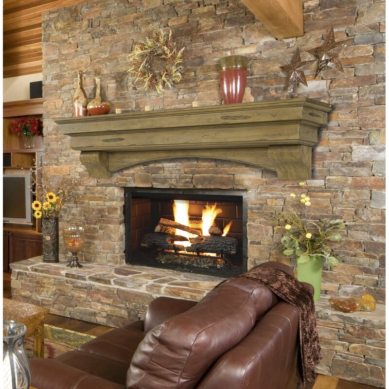 Pearl Mantels Celeste Fireplace Shelf Mantel Reviews Wayfair