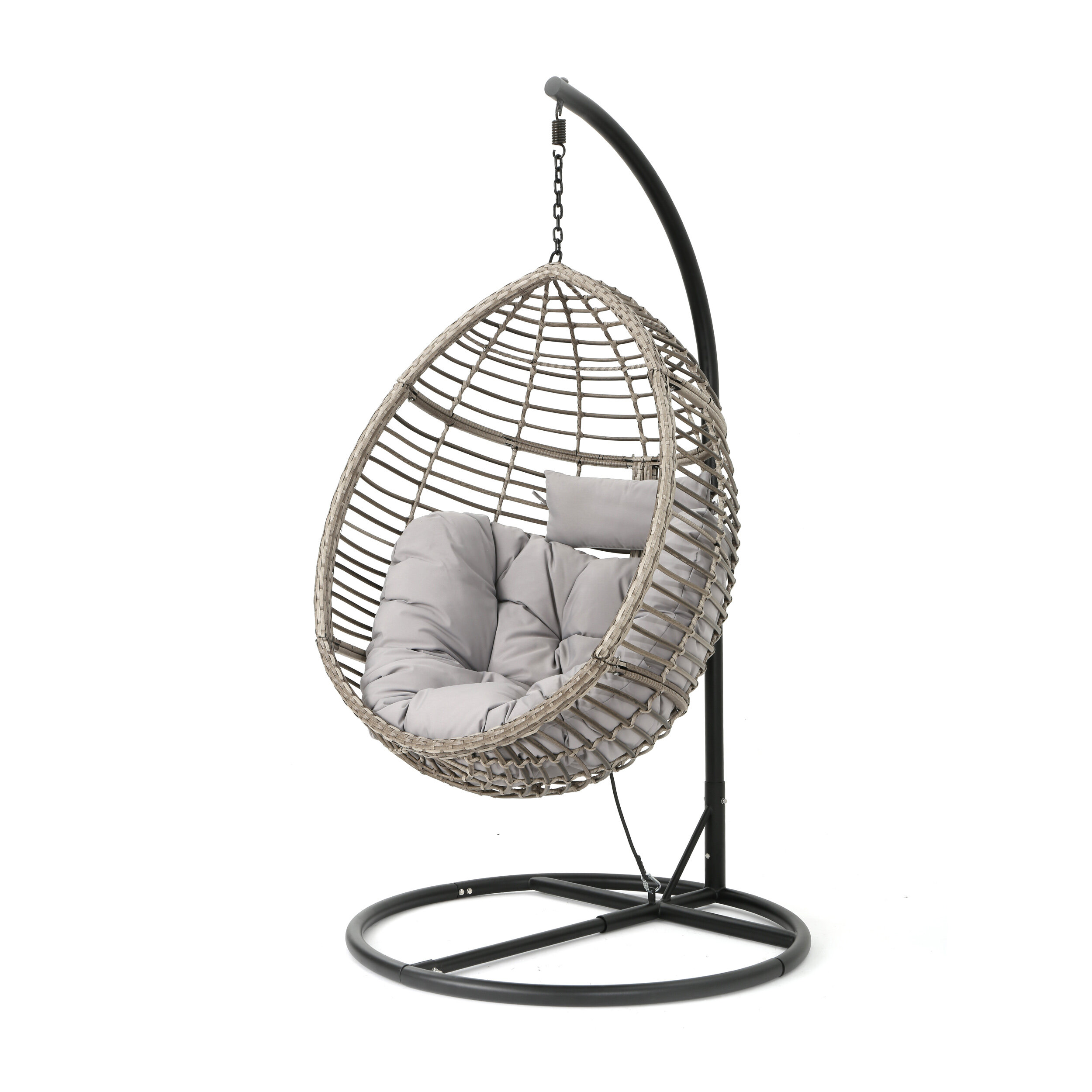 Weller Outdoor Wicker Basket Swing Chair With Stand Reviews Joss