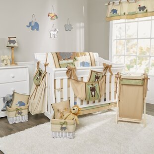 On Safari 18 Piece Crib Bedding Set