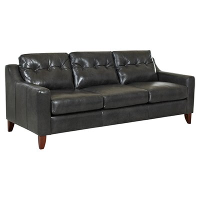 Kaleb Tufted Leather Sofa Wayfair