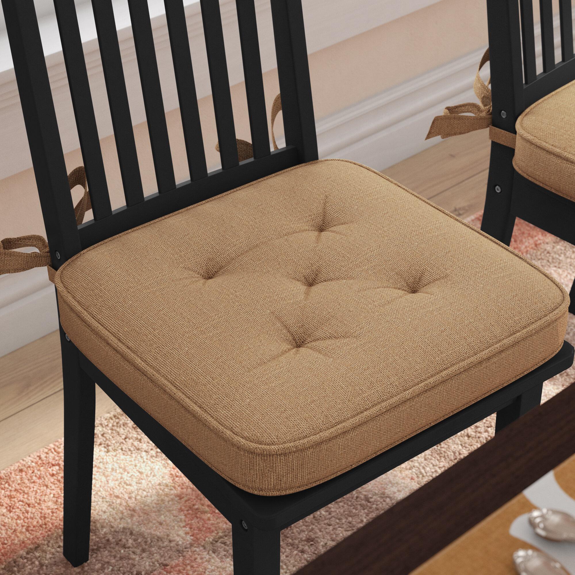 Delicieux August Grove Burlap Dining Chair Cushion U0026 Reviews | Wayfair