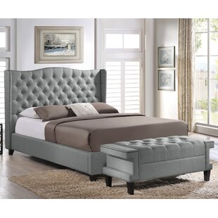 King Bed With Bench | Wayfair