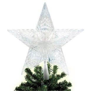 10 light pentagram star led tree topper