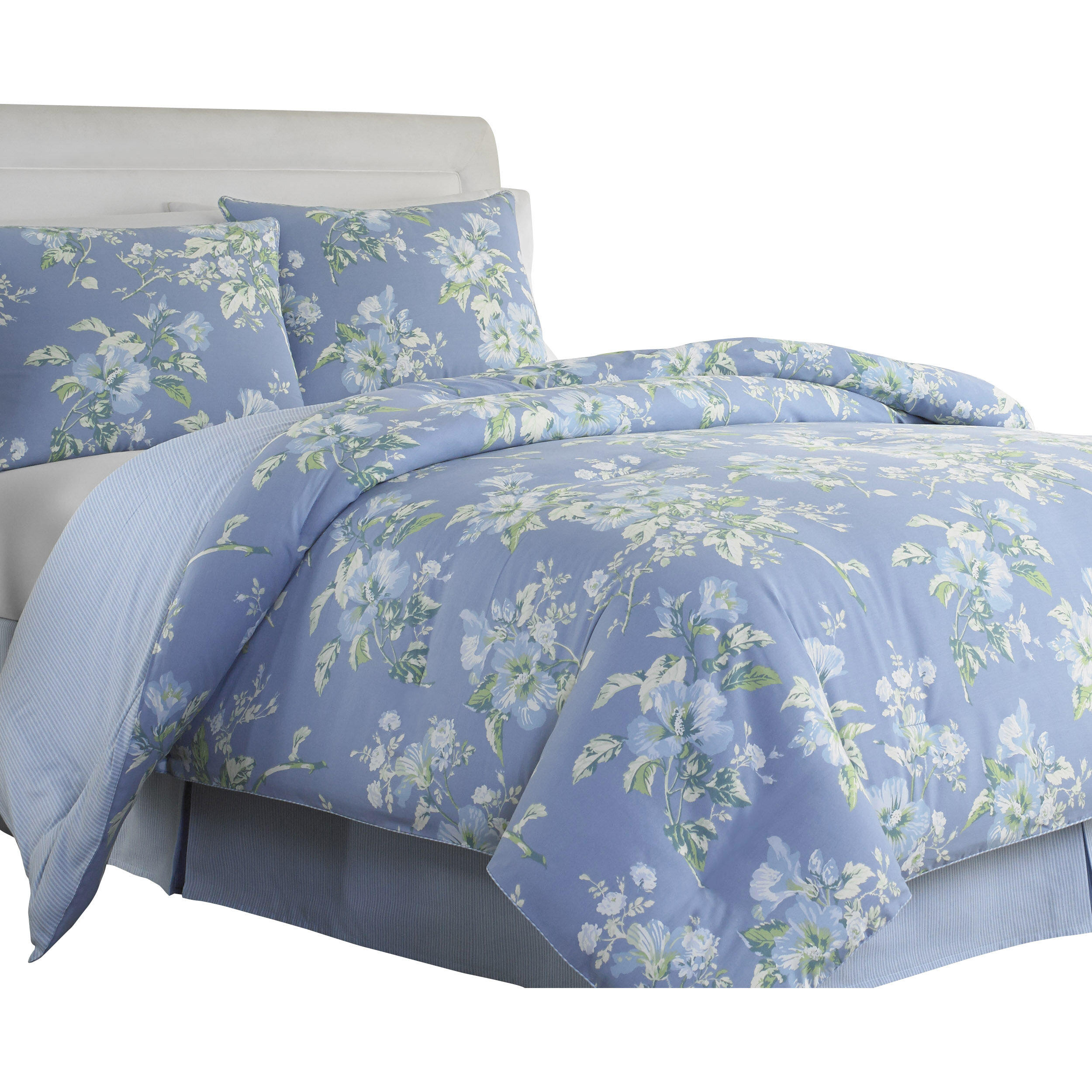 Greatest Laura Ashley Home Spencer Periwinkle 3 Piece Comforter Set by  YU24