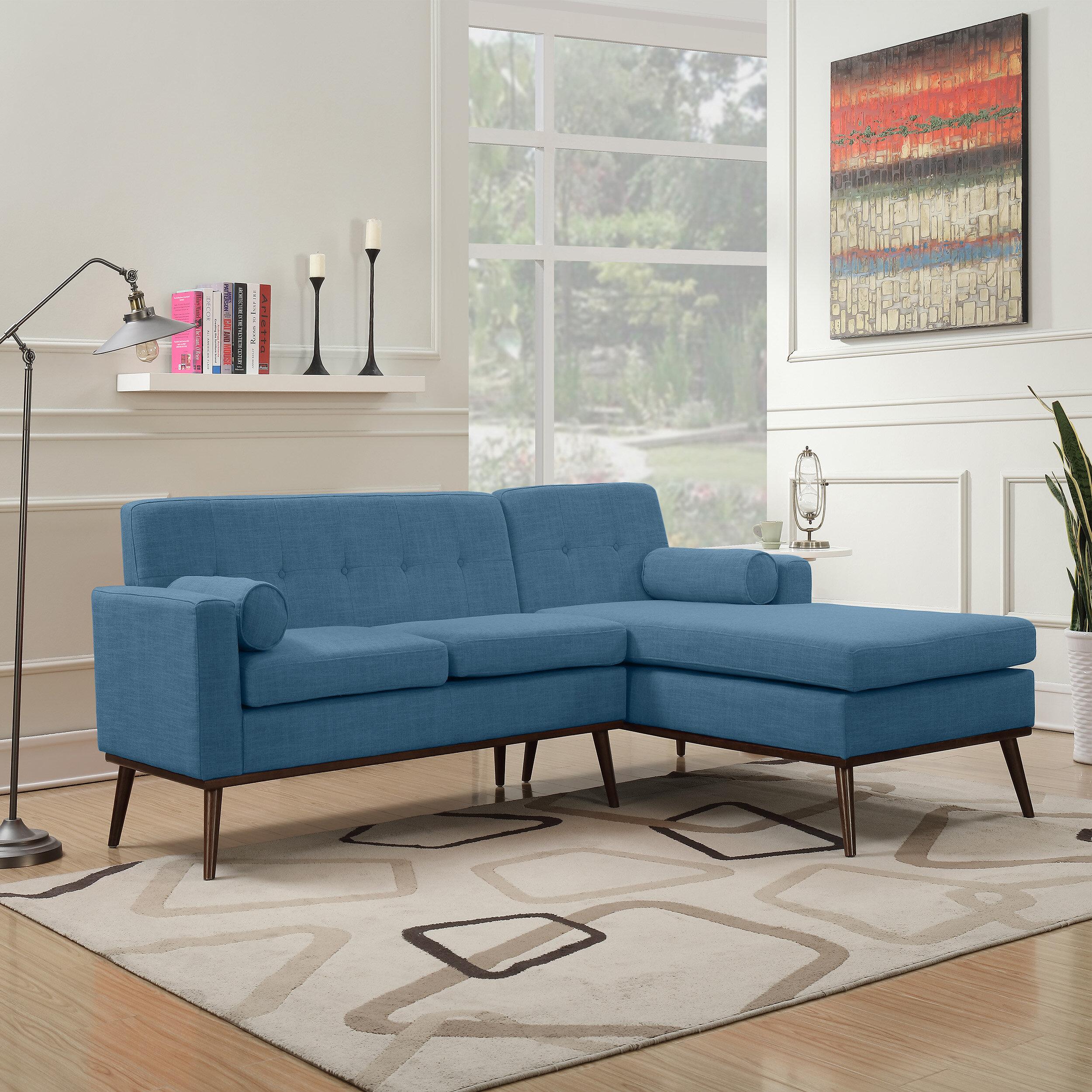 George Oliver Charlcombe Mid Century Modern Modular Sectional Sofa