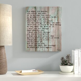 Large Canvas Wall Art Quotes Wayfair
