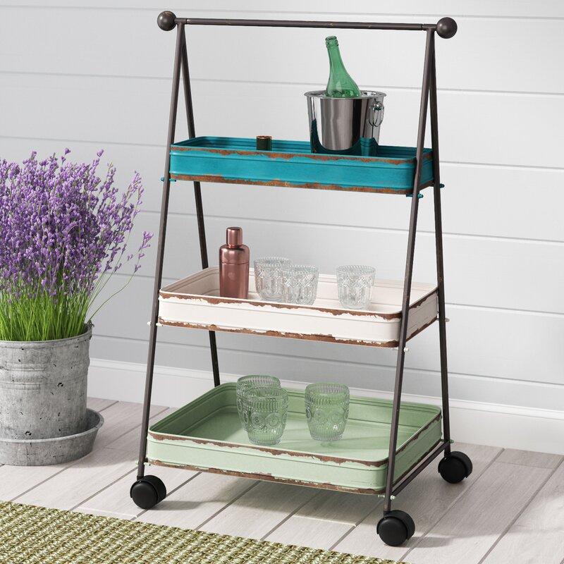 3 tier bar cart tiered storage farina tier bar cart laurel foundry modern farmhouse reviews