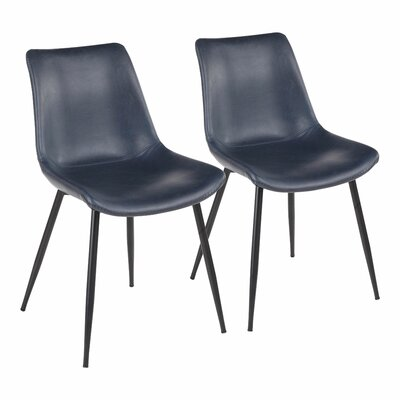 Modern Blue Upholstered Dining Chairs | AllModern