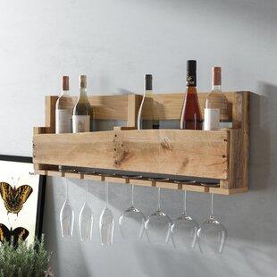 Malissa 8 Bottle Wall Mounted Wine Bottle Rack
