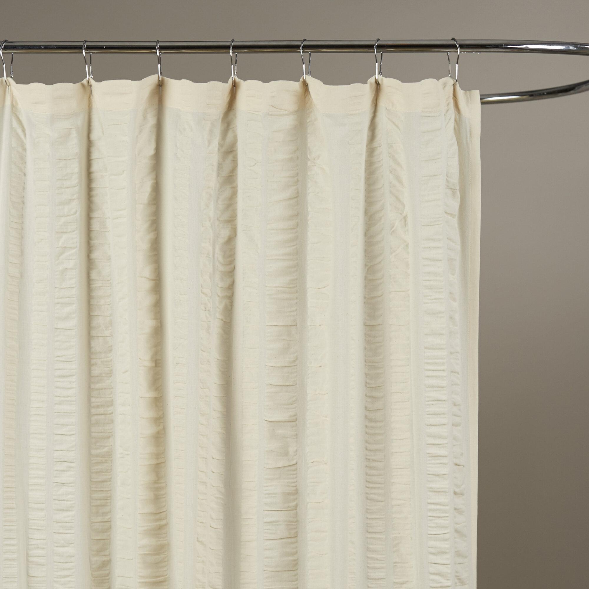 Birch Lane™ Ewen Cotton Shower Curtain & Reviews | Birch Lane
