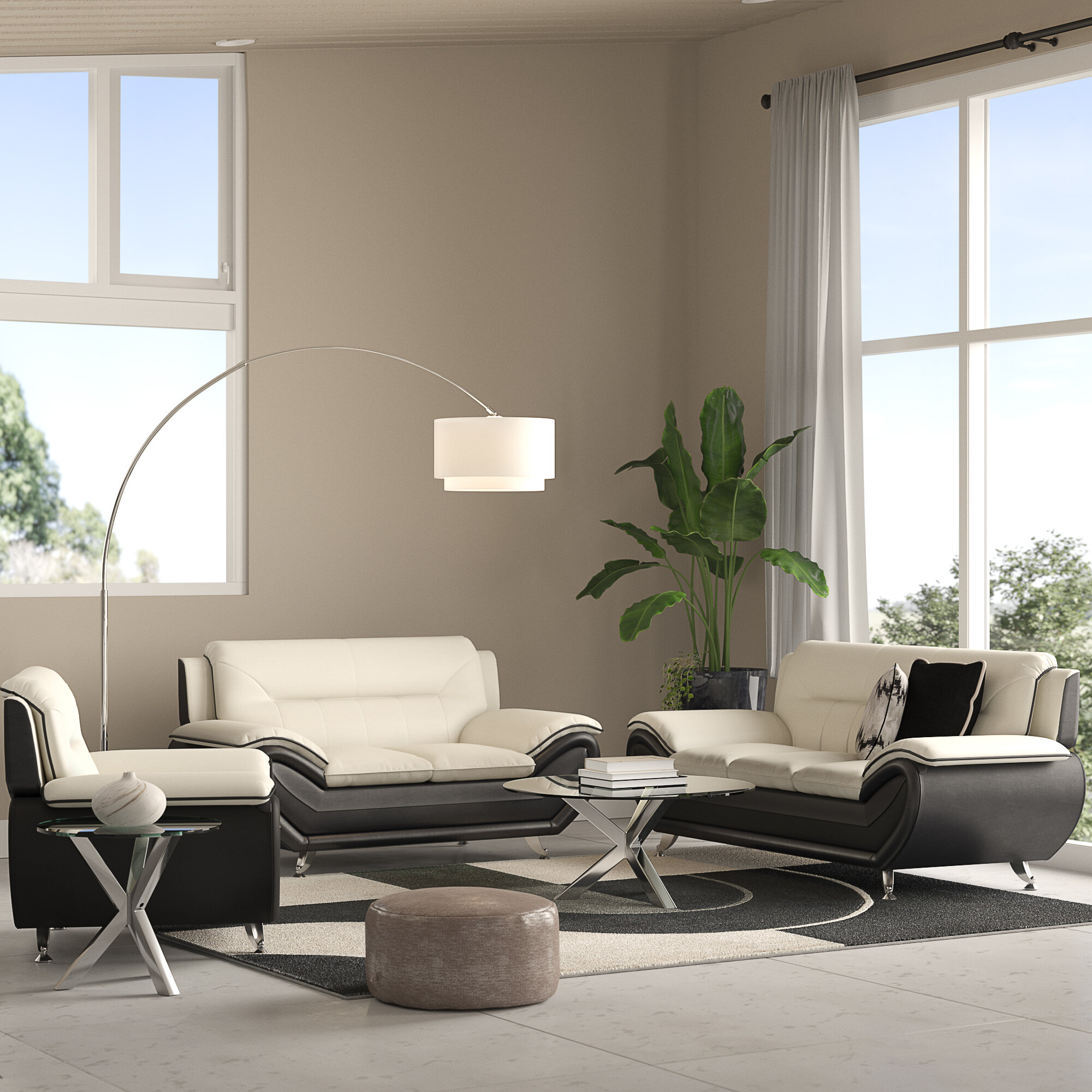 Orren Ellis Jasmin 3 Piece Living Room Set & Reviews | Wayfair