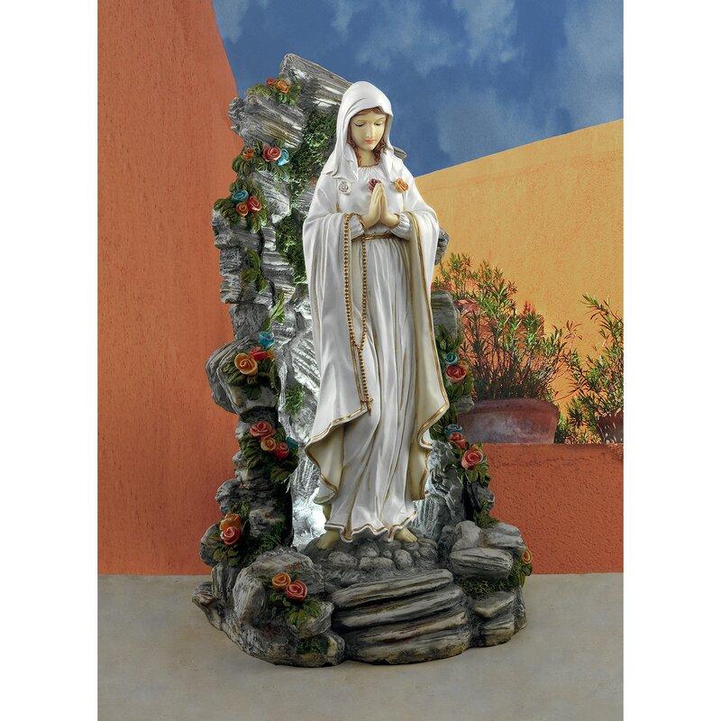 Design Toscano Blessed Virgin Mary Illuminated Garden Grotto Statue |  Wayfair