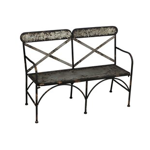 Beau Tilsworth Galvanized Metal Garden Bench