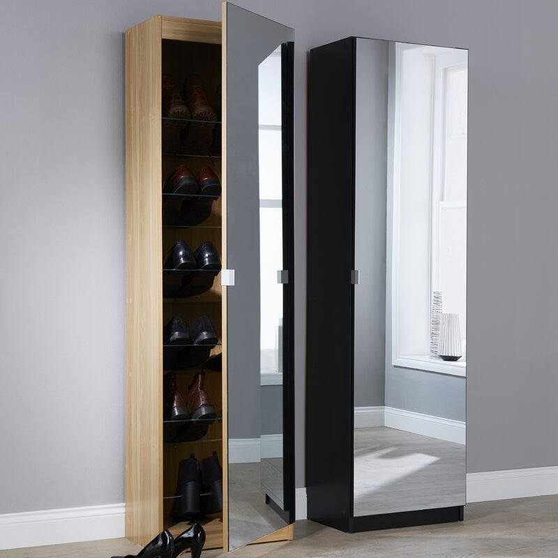 Hazelwood home mirror shoe cabinet reviews - Scarpiera slim specchio ...