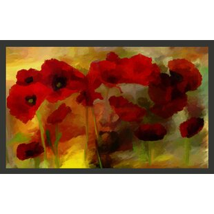 Poppies in Warm Tone 270cm x 450cm Wallpaper by East Urban Home