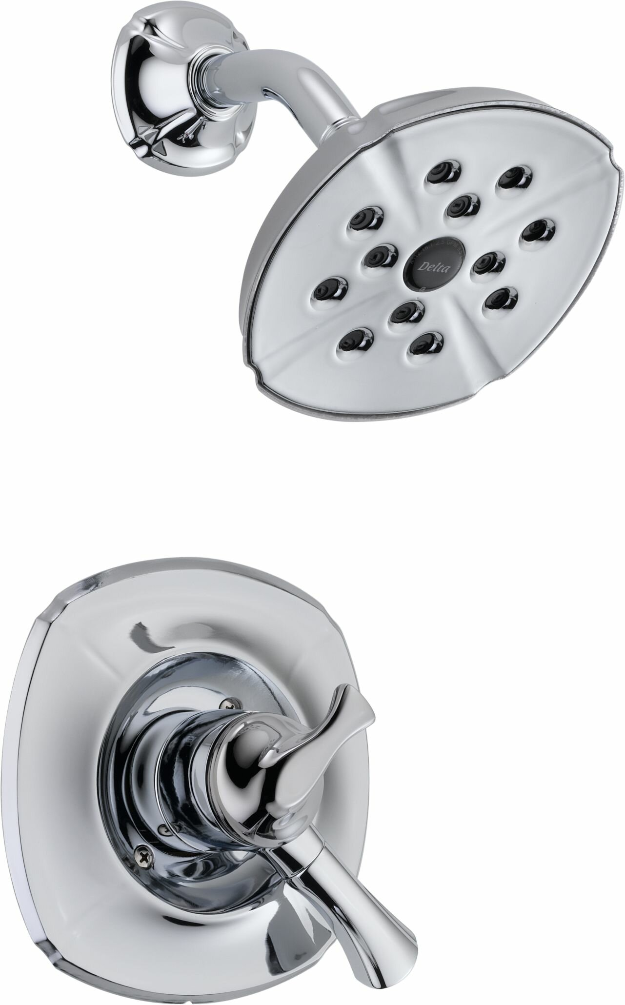 Delta Addison Diverter Shower Faucet With Lever Handle And Monitor U0026  Reviews | Wayfair