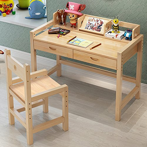 Donnie Kids 47 Writing Desk With Hutch And Chair Set