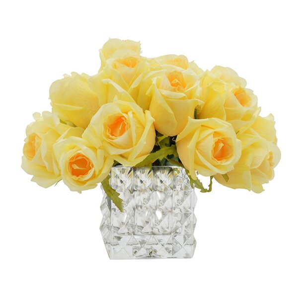 Darby Home Co Yellow Rose Bouquet Reviews Wayfair