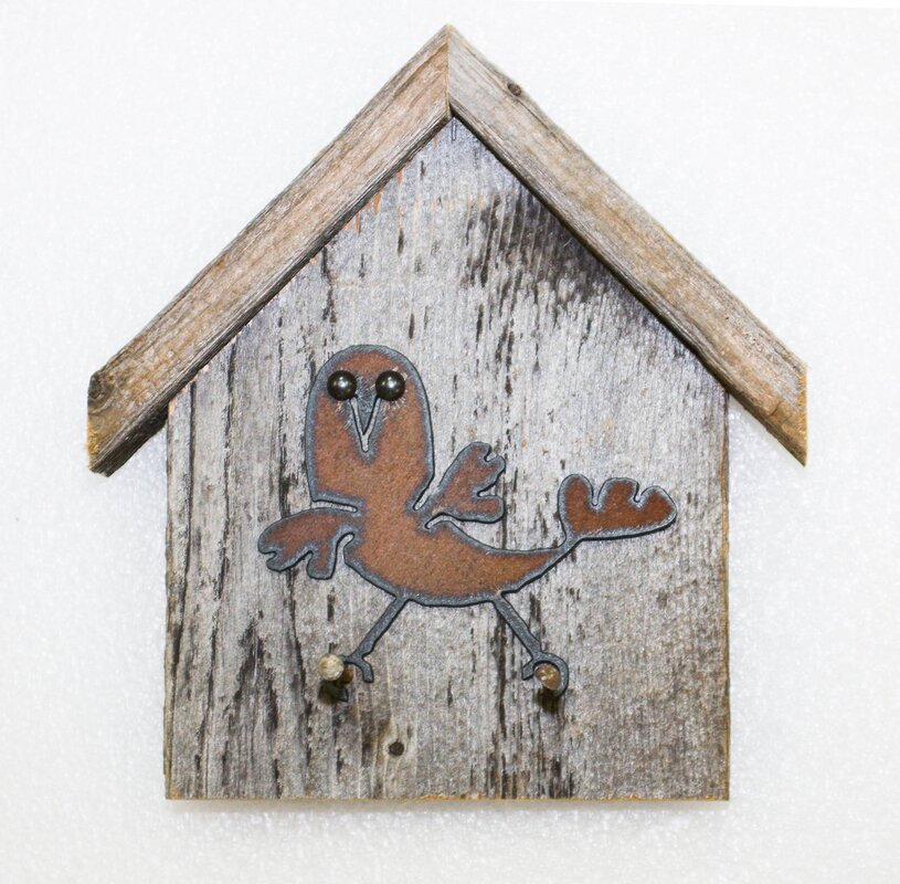 Recherche Reclaimed Birdhouse Key Holder Wall Decor & Reviews ...