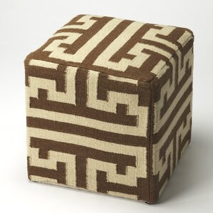 Loon Peak Westmanland Labyrinth Wool Ottoman