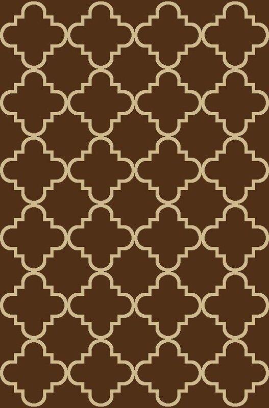 Beauchamp Square Brown Moroccan Trellis Doormat