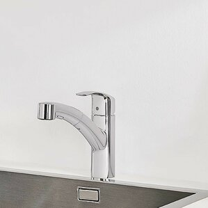 Grohe Eurosmart Single Handle Pull Out Standard Kitchen Faucet with Dual Spray