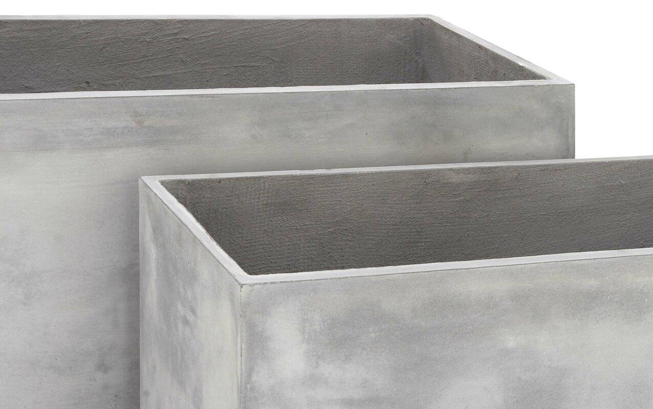 Cole planters prices -  Stainless Steel Planters By Cole U0026 Grey 2 Piece Fiberclay Planter Box Set U0026 Reviews Wayfair