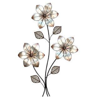 Décoration Murale En Métal Thème Fleurs Et Plantes Wayfairca
