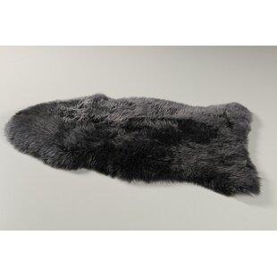 Frye Longwool Sheep Dark Grey Rug by Norden Home