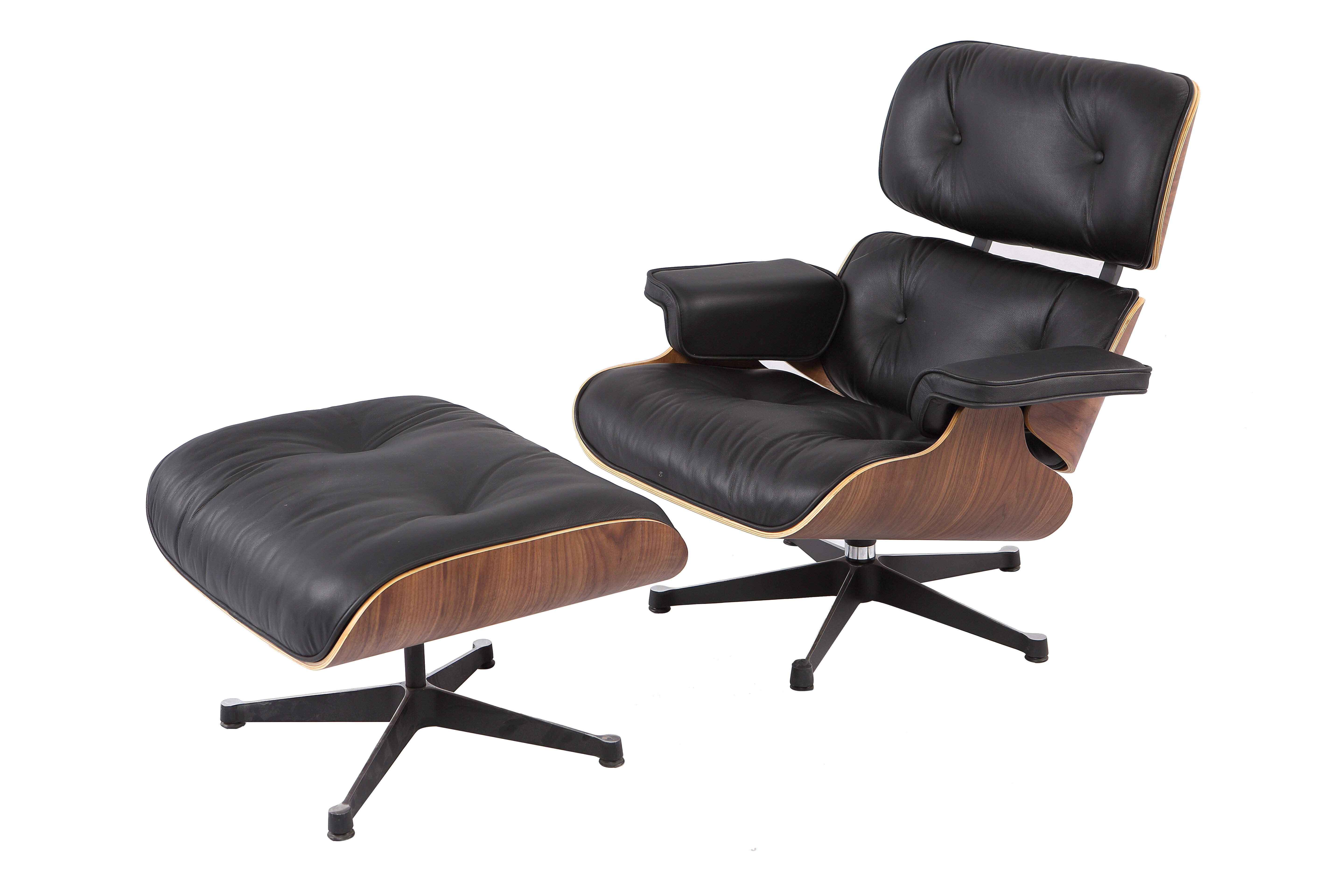 Corrigan Studio Emilio Mid Century Swivel Lounge Chair and Ottoman