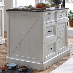 Ryles 3 Piece Kitchen Island Set with Eng..