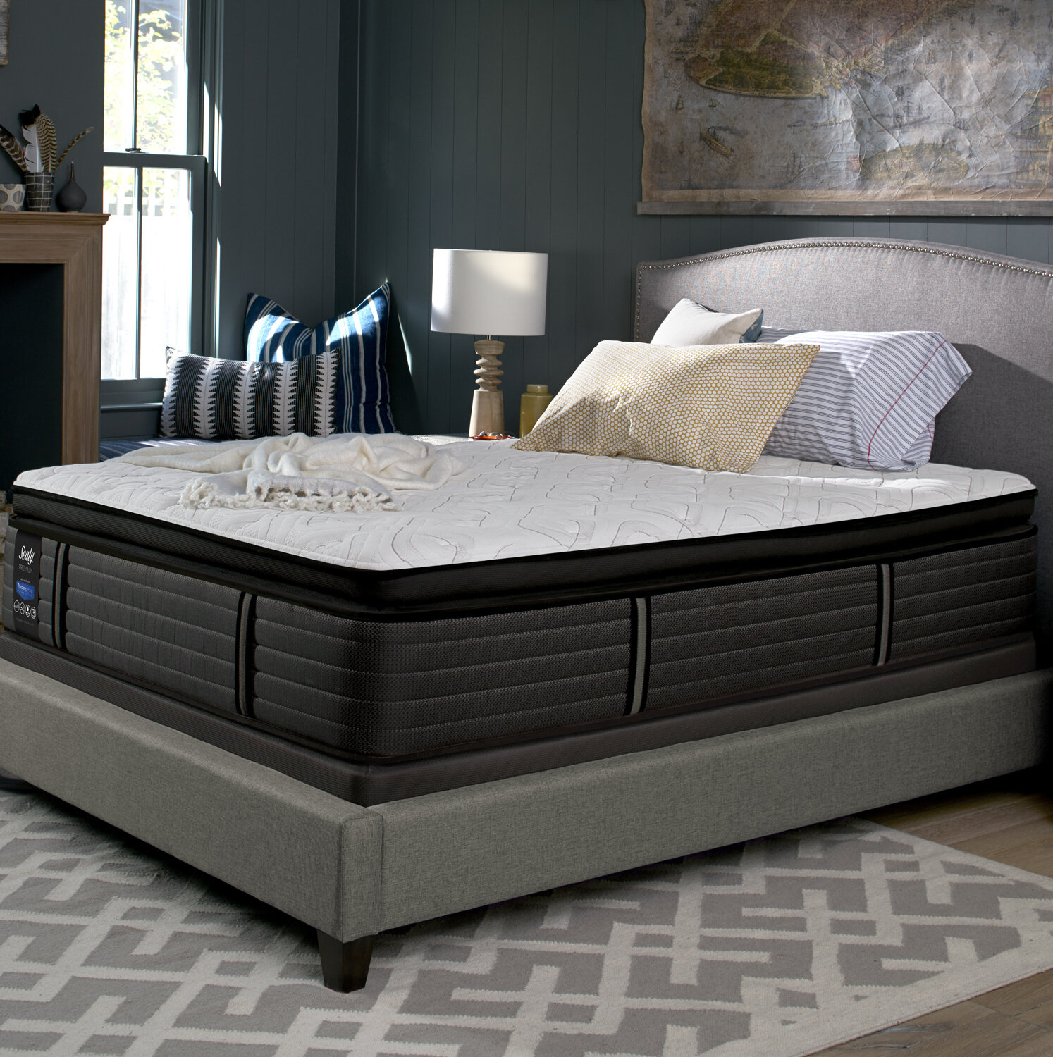 sleep silver canada topper by pillow davidson mattresses beautyrest simmons top country mattress