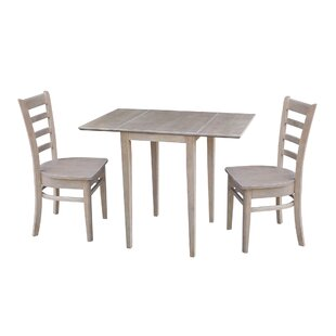 New Canaan Small Dual 3 Piece Drop Leaf Solid Wood Dining Set